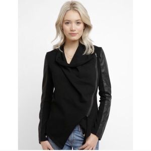 Blank NYC Faux Leather Ponte Jacket